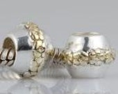 RING of Golden FLOWERS Sterling Silver European Charm Bead