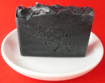 Homemade Activated Charcoal Cold Process Black Soap From Scratch | Face Soap | Artisan Soap | Bar Soap