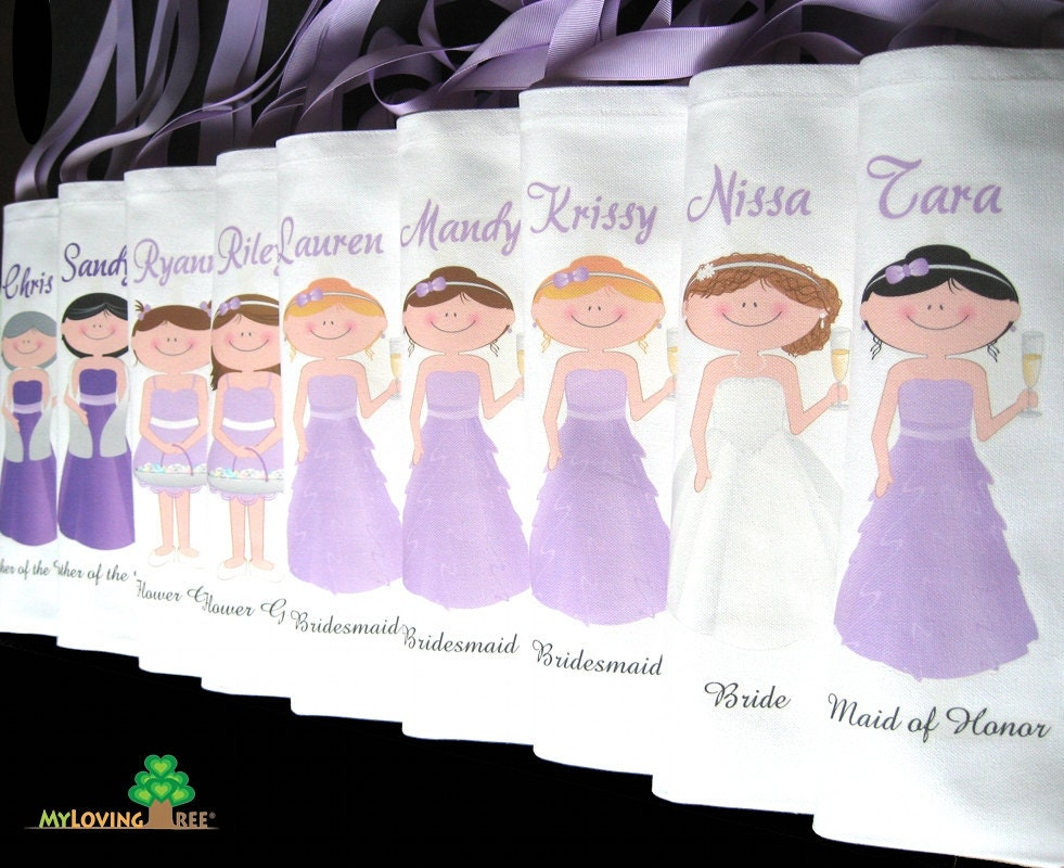 Wedding Gifts From Bridesmaids: Bridesmaid Tote Bags Personalized Bridesmaids Gifts Bags