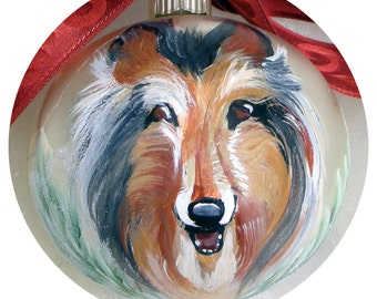 Sheltie Ornament ~ Hand Painted Dog Ornament ~ Sheltie Ornament ~ Hand Painted Sheltie ~ Pet Memento
