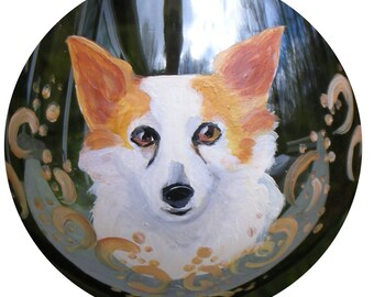 Papillon Mix Wine Glass ~  Hand Painted Wine Glass ~ Dog Wine Glass ~ Birthday Gift