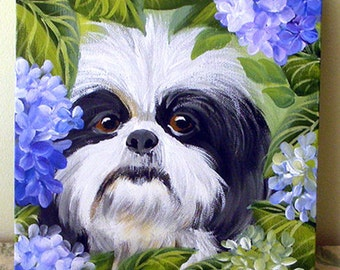 Reserve Sale ~ Pet Portrait ~ Dog Portrait ~ Custom Painting of Your Pet 8x10 ~ Birthday Gift