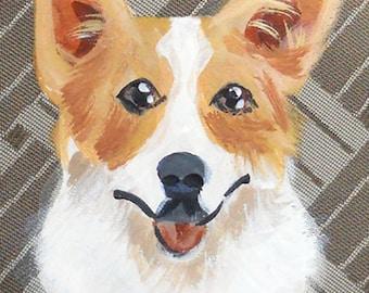 Welsh Corgi Coin Purse ~ Gifts for Her ~ Corgi Lover Gift ~ Corgi Portrait ~ June Birthday ~ Dog Coin Purse