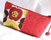 Apples patchwork - zipper bag