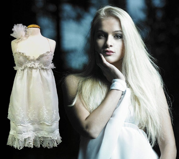 Items similar to baby doll wedding dress on etsy for Baby doll style wedding dress