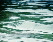 Water ripples Photography water blue green ocean lake river panorama motion sailing boat Unrestrained movement 5.5x11 fine art photo