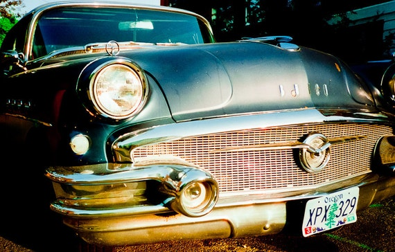 Vintage 50s car Photography super 4 door Buick blue metallic cars american 1950s mad men steel car - She's a junkyard angel - fine art photo