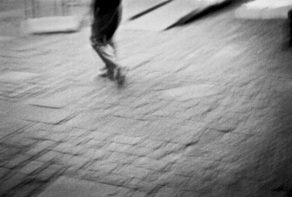 Abstract New York Photography minimalist fine art NYC advance subway series feet walk motion movement black white - Steps- fine art photo