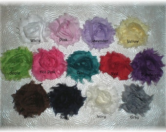 Baby Snap Clip Mini Chiffon Flowers - You Choose 3 Colors - Perfect Clip for Fine, Thin Hair that STAY in