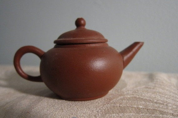Vintage Miniature Yixing Purple Clay Teapot
