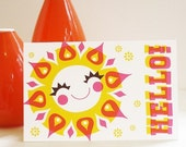 Hello Sunshine greeting card