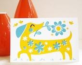 Basil the Dog greeting card
