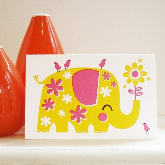 Nelly the Elephant greeting card