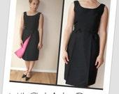Vintage 1960s Little Black Audrey Dress (xsmall)