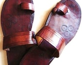 Single Band Leather Sandals