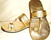 Moroccan Inspired Leather Sandals SILVER LIMITED EDITION