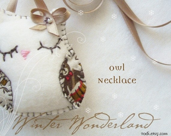 Cute Owl Necklace&Toy PDF pattern INSTANT DOWNLOAD