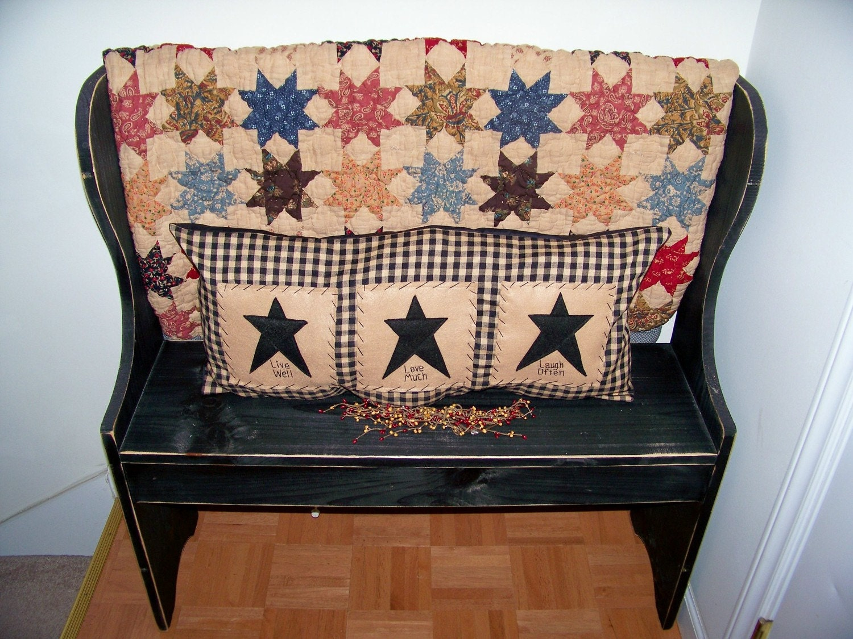 Decorative Primitive Pillows : Primitive Pillow Prim Stitchery Decor Country by wvluckygirl