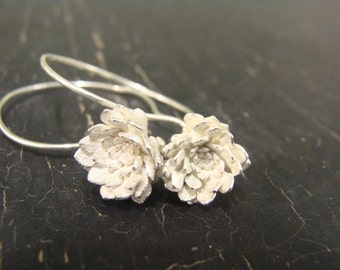 Hartland Sedum Rosette Hoops -- Botanical Jewelry -- Nature Cast -- Ready to Ship