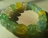 Crackled Bracelet in Green