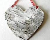 Birch Bark Heart Ornament