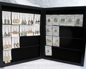 Handmade Earring Display Rack for earrings on cards - Double Free-Standing LARGE holds 40 pairs