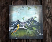 Original Acrylic Painting- Fresh Mountain Air
