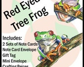 Red Eyed Tree Frog - Printable PDF Stationary