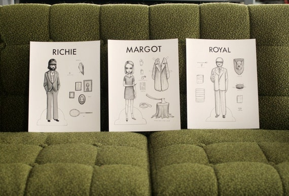 RESERVED listing for Caitlin...Margot, Royal and Richie - paper doll trio by Mab Graves