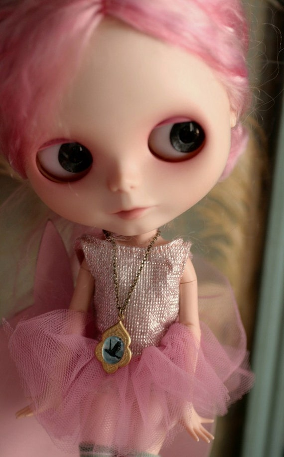 Baby, you are Spoiled - Raven Like a Writing Desk -  For your plastic children - original Blythe cameo necklace by Mab Graves