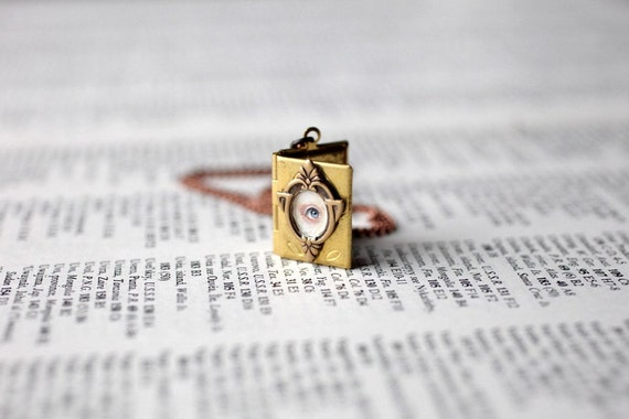 Story Book Eye Candy cameo locket - original painting by Mab Graves