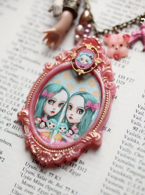 The Collector Twins - original Blythe Love cameo necklace by Mab Graves