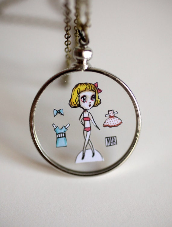 The Paper Doll pendant - original necklace by Mab Graves