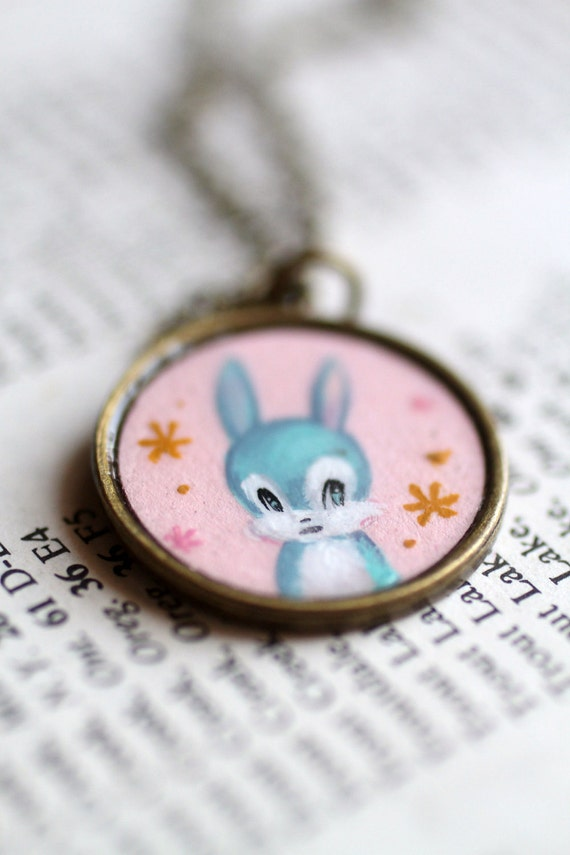 Cutie Kawaii Bunny - original cameo by Mab Graves