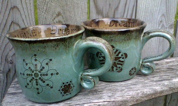 Items similar to Pair Personalized Coffee Mugs - Robin's ...