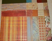 "Family Scrapbook Kit - ""Flair Affair"" 12""x12"" size vintage look family floral"