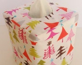 Christmas Tree Spice reversible tissue box cover