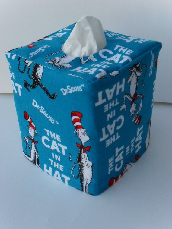 Cat in the Hat reversible tissue box cover