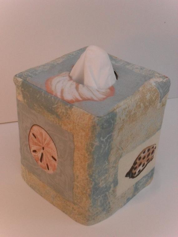 Seashore reversible tissue box cover - Beach themed tissue box cover ...