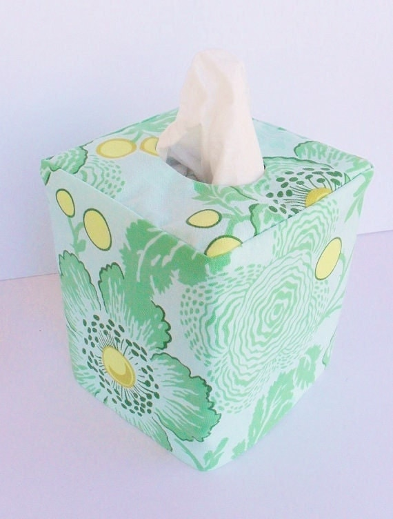 Poppies reversible tissue box cover
