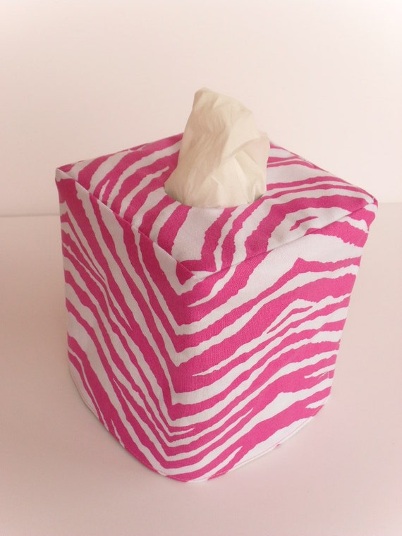 Party animal reversible tissue box cover
