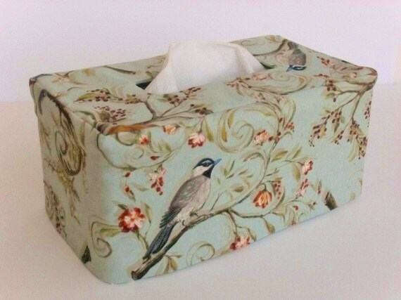 Bird Rectangle Reversible Tissue Box Cover
