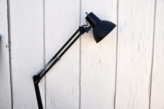 SALE SALE Fabulous Black Industrial Metal Folding Lamp