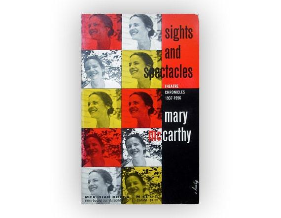 """Elaine Lustig book cover design, 1957. """"Sights and Spectacles"""" by Mary McCarthy"""