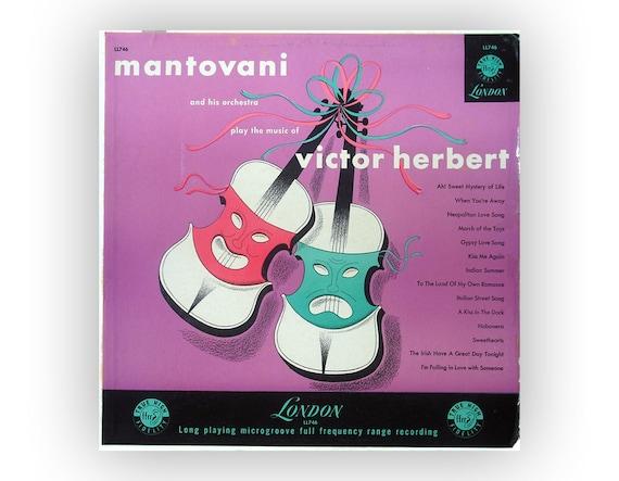 """Alex Steinweiss (attr.) record album design, c.1953. Mantovani """"The Music of Victor Herbert"""" LP"""