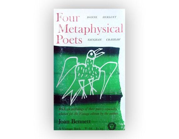 "Joseph Low book cover design, 1953. ""Four Metaphysical Poets"" by Joan Bennett."