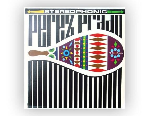 """Sam Suliman record album design, c. 1960. """"Perez Prado"""" LP"""