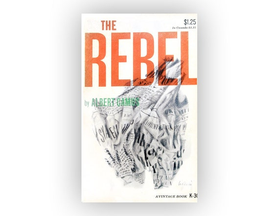 "Leo Lionni book cover design, 1952. ""The Rebel"" by Albert Camus"