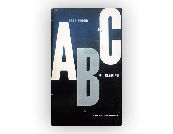 """Alvin Lustig book cover design, 1960. """"ABC of Reading"""" by Ezra Pound."""