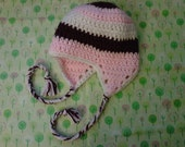 Neapolitan Ear Flap Baby Hat
